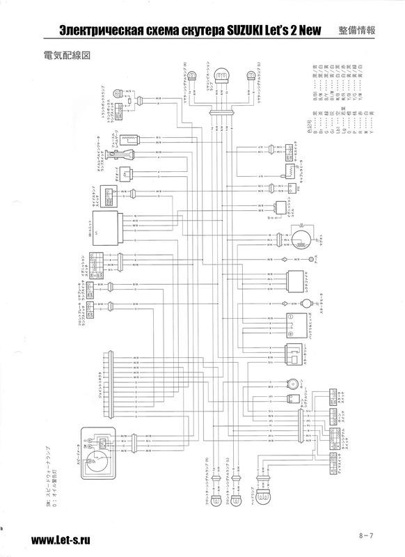 схема проводки скутер сузуки