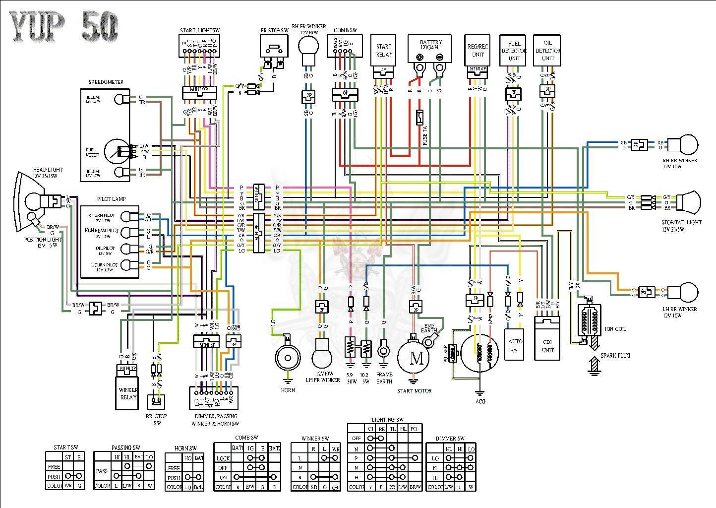 электромонтажная схема ява 350