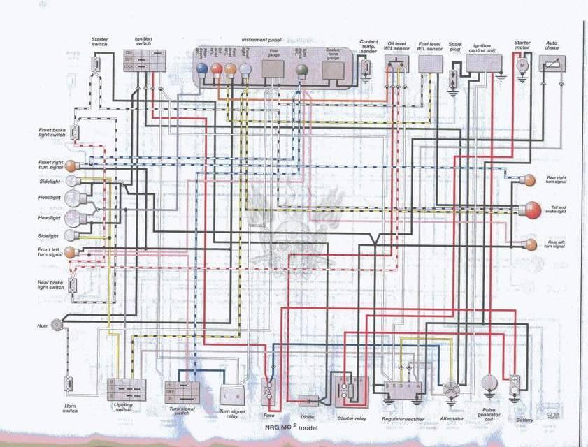 Схема проводки скутера Piaggio