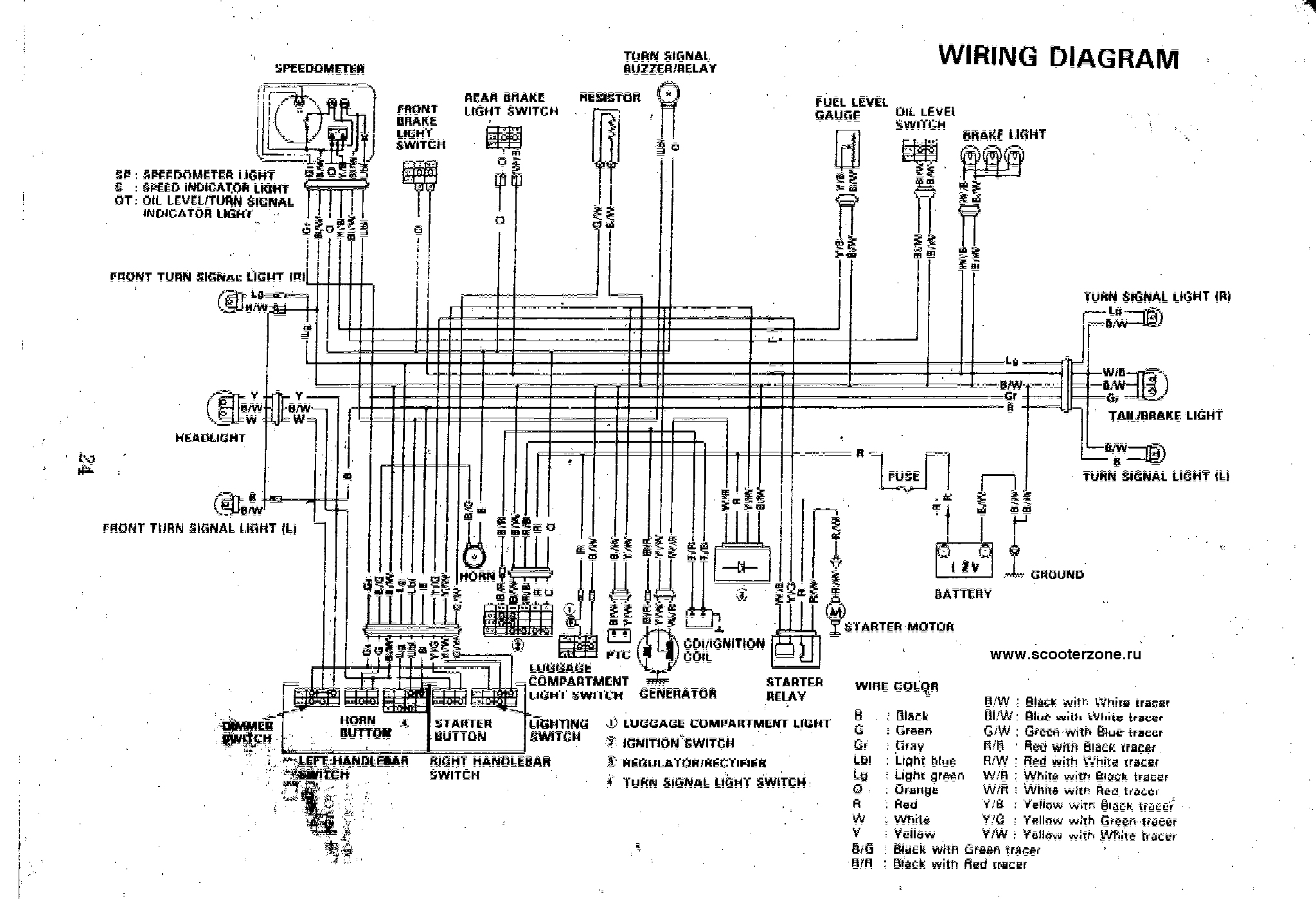 Схема проводки сузуки векстар