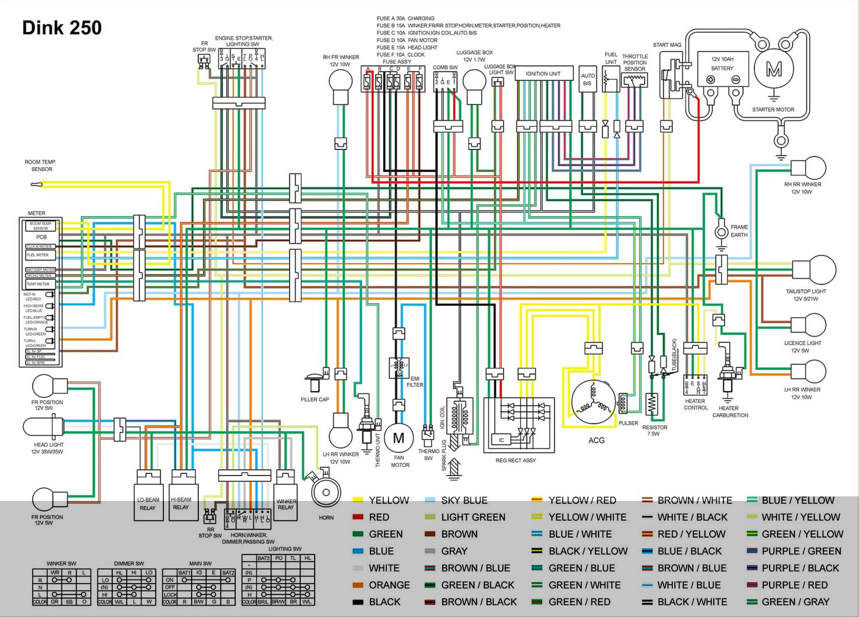 електро схема китайского скутера