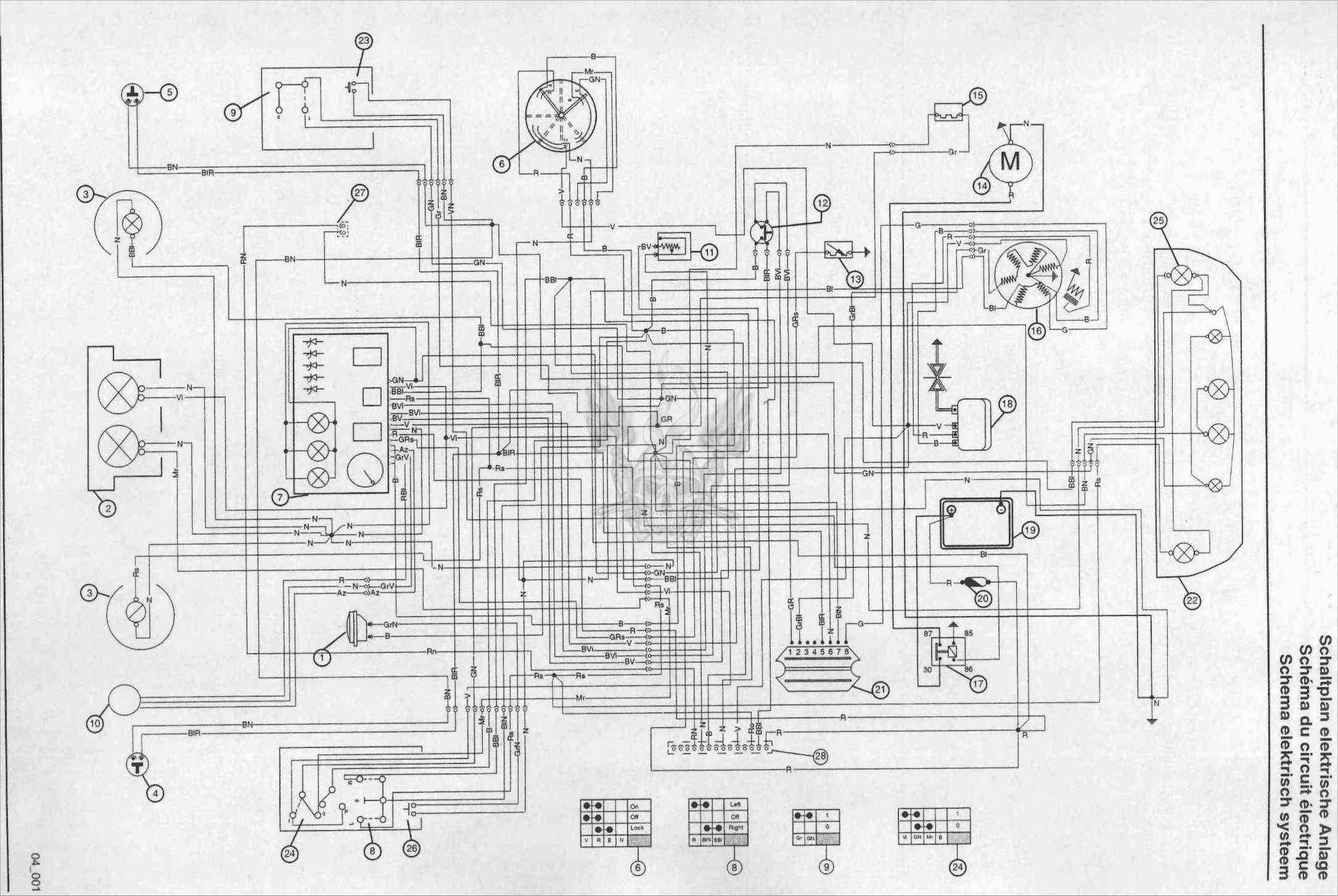схема проводки минск м 125