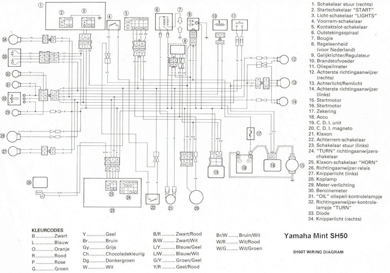 Yamaha Mint Wiring Diagram | Wiring Schematic Diagram on