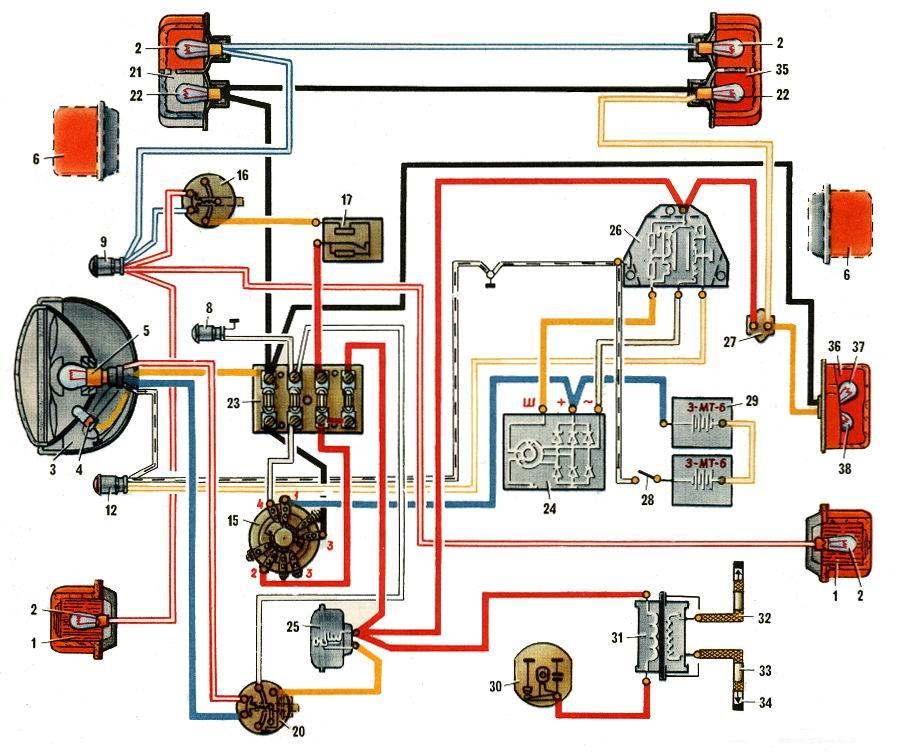 Схема мотоцикла Урал м 67
