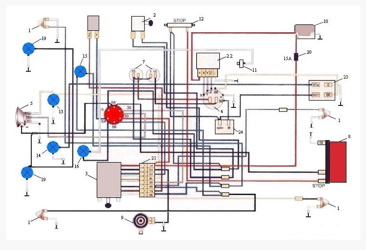14 – лампа работы генератора