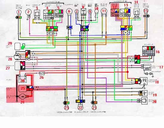 Схема скутера Ямаха-Mint