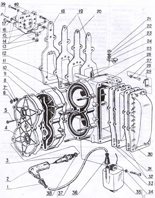 розборка схема лодочного мотора Нептун