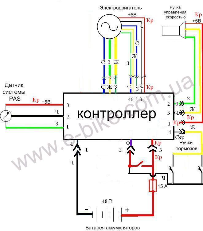 Контроллер 48V 500W с
