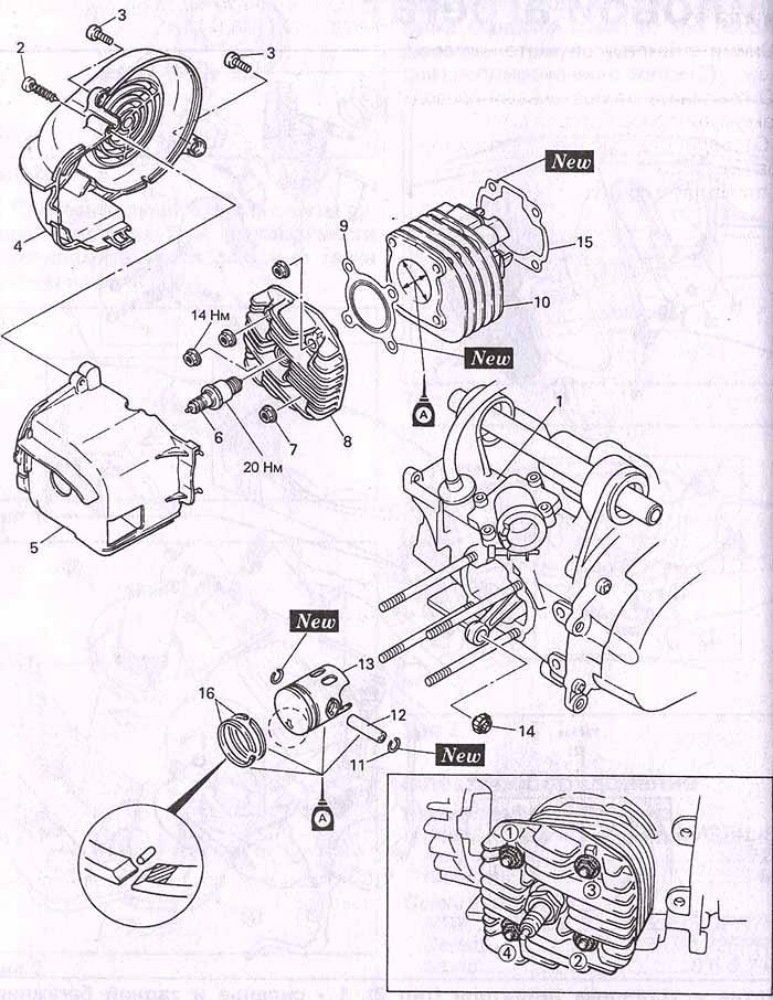 розборка двигателя скутера