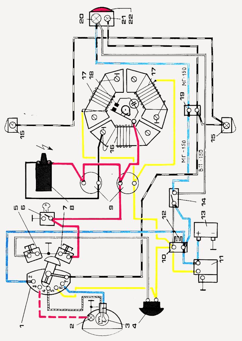 Муравей мотороллер электрическая схема