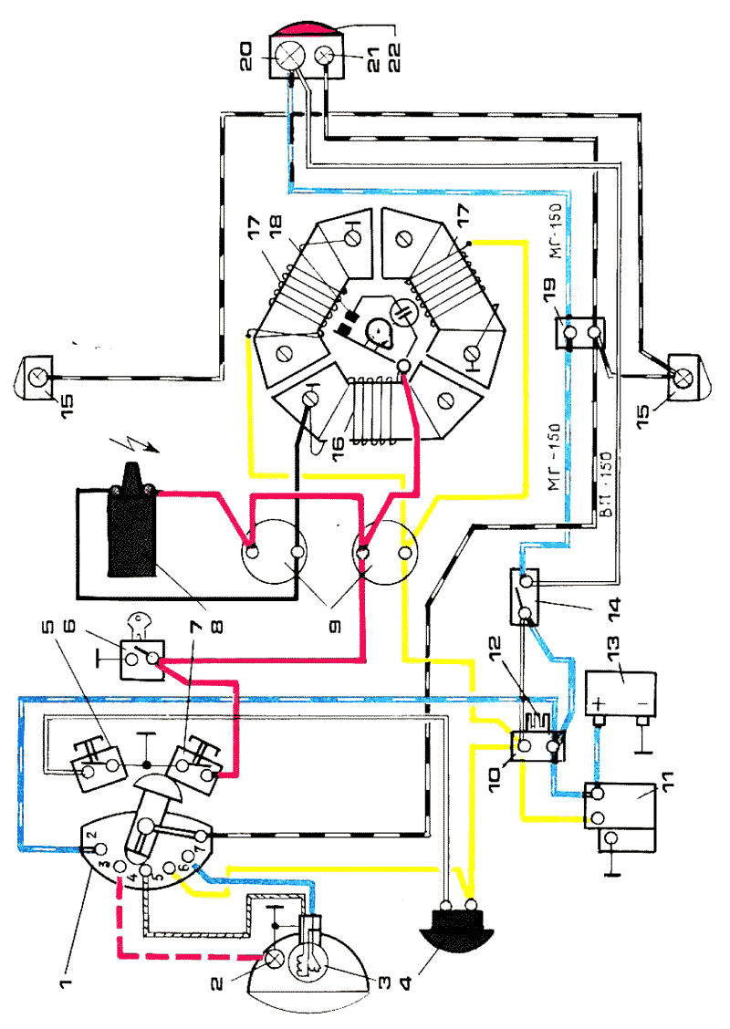 схема электрооборудования мотороллера тулица.