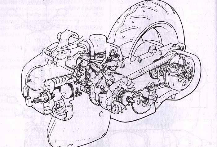 ремонт двигателя Yamaha Jog