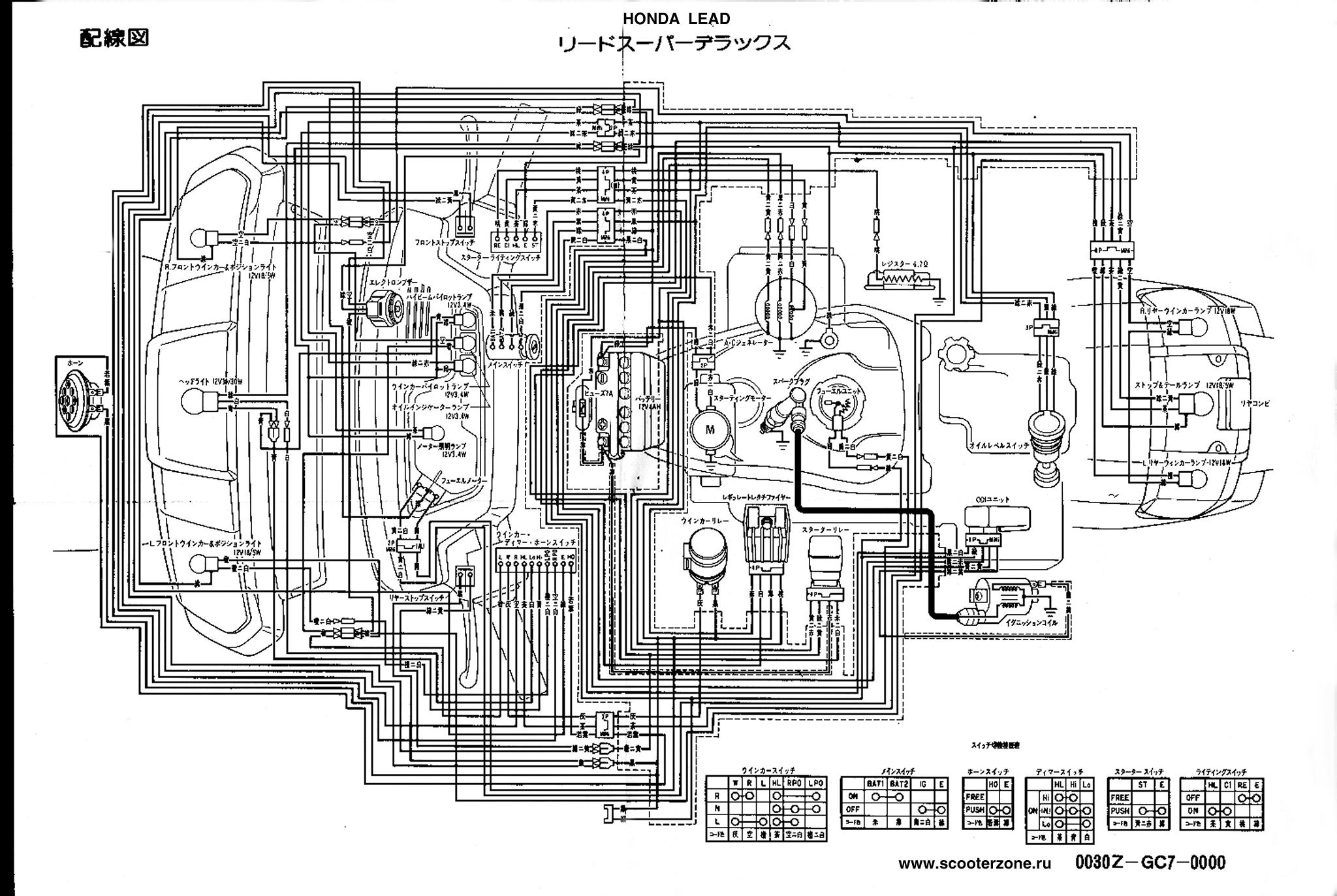 схема электрооборудования хонда леад фото настоящее время данному